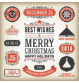 Christmas decoration design elements vector image vector image