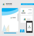 cone cap business logo file cover visiting card vector image