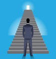Corporate ladder business concept vector image vector image