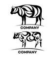 cow and ecology logo vector image vector image
