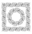 curls frame ornamental circle forging vector image vector image