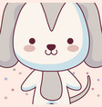 cute and little dog character vector image
