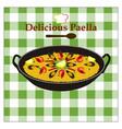 delicious-paella vector image vector image