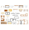design concept coffee table collection vector image vector image