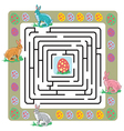 Easter maze with bunnies and eggs vector image