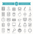 Education Line Icons vector image vector image