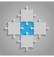 Element Puzzles JigSaw - 5 Pieces Blue vector image vector image