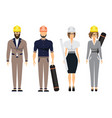 engineers and architect set with civil engineering vector image vector image