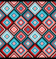 ethnic rhombus tribal seamless pattern vector image