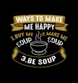 food quote and saying good for print vector image vector image