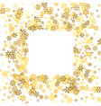 frame or border of random scatter snowflakes vector image vector image