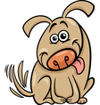 funny dog cartoon vector image vector image