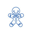 gingerman line icon concept gingerman flat vector image