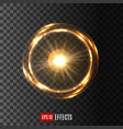 glowing light circle on transparent background vector image vector image