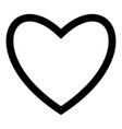 heart black color icon flat style simple image vector image vector image