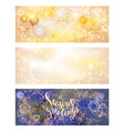 holiday snow banners vector image vector image