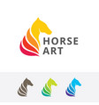 horse art logo design vector image