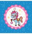 Horse circus card design vector image