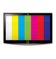 LCD TV test screen vector image vector image