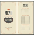 Menu for a cafe or restaurant with a toque vector image vector image