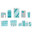 modern buildings cartoon set vector image