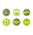 natural badges vector image vector image