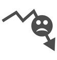 negative smiley trend flat icon vector image vector image