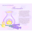 oil burner with lavender flowers and essential vector image