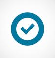 ok bold blue border circle icon vector image