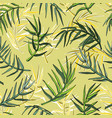 palm leaves silhouette seamless background vector image vector image