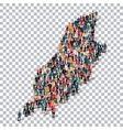 people map country Isle of Man vector image