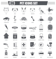 Pet animal black icon set Dark grey vector image vector image