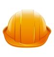 Protective helmet Orange construction helmet vector image vector image