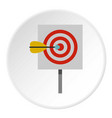 red target and dart icon circle vector image