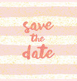 save date with pastel white and pink background vector image