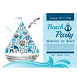 Sea summer travel banner invitation design for vector image vector image