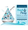 sea summer travel banner invitation design