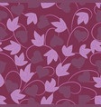 seamless purple floral wallpaper vector image