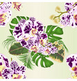 seamless texture tropical flowers orchids vector image vector image