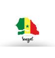 senegal country flag inside map contour design vector image vector image