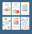 set of bakery label cards for design vector image vector image