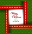simple merry christmas and happy new year card vector image