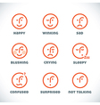 Smiles Icons vector image