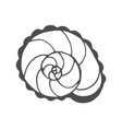 snail coloring page vector image vector image