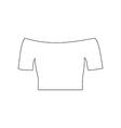 T-shirt top vector image vector image