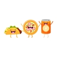 Tco Pizza And Soda Cartoon Friends vector image vector image