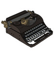 the vintage portable typewriter vector image vector image