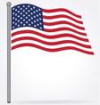 usa flag flying on flagpole vector image