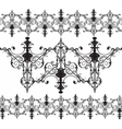 Vintage Gothic ornament pattern elements vector image