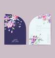 wedding spring blooming floral card vector image vector image